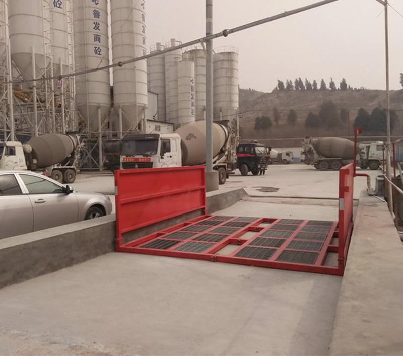 基坑滚轴式工程洗车机